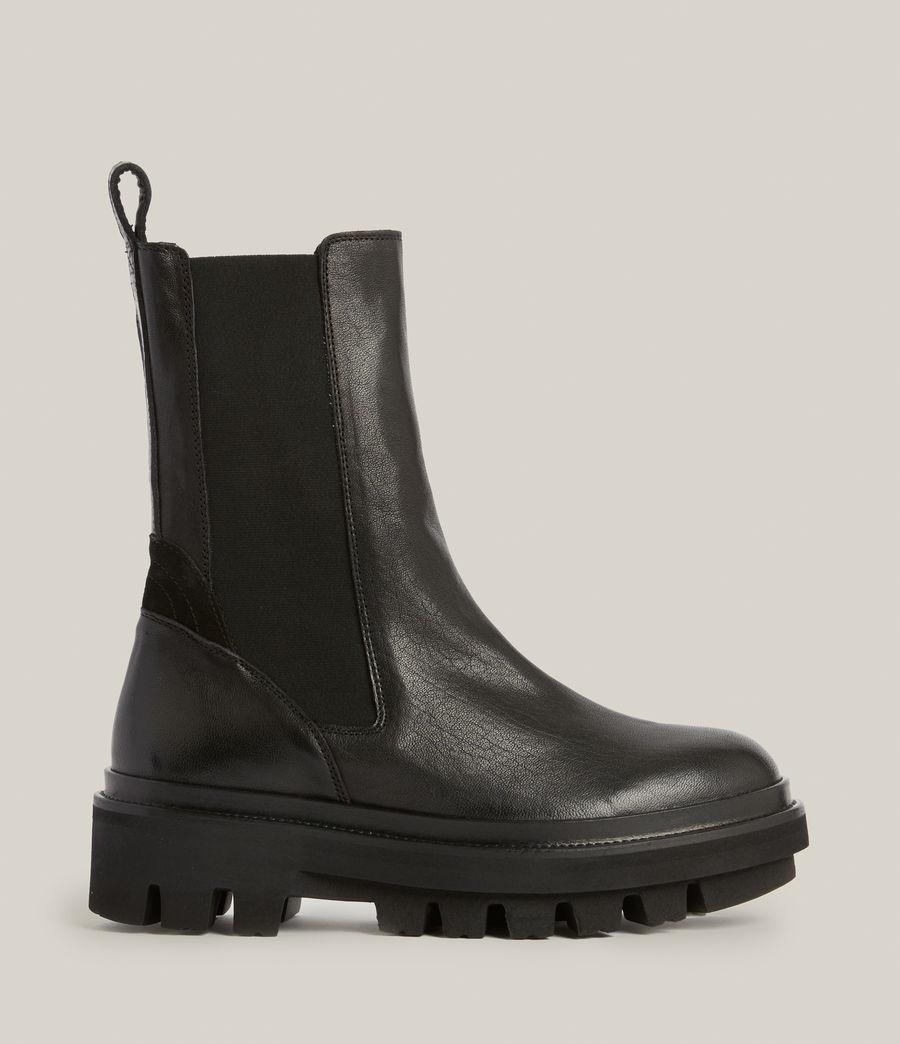 Women's Billie Leather Boots (black) - Image 1
