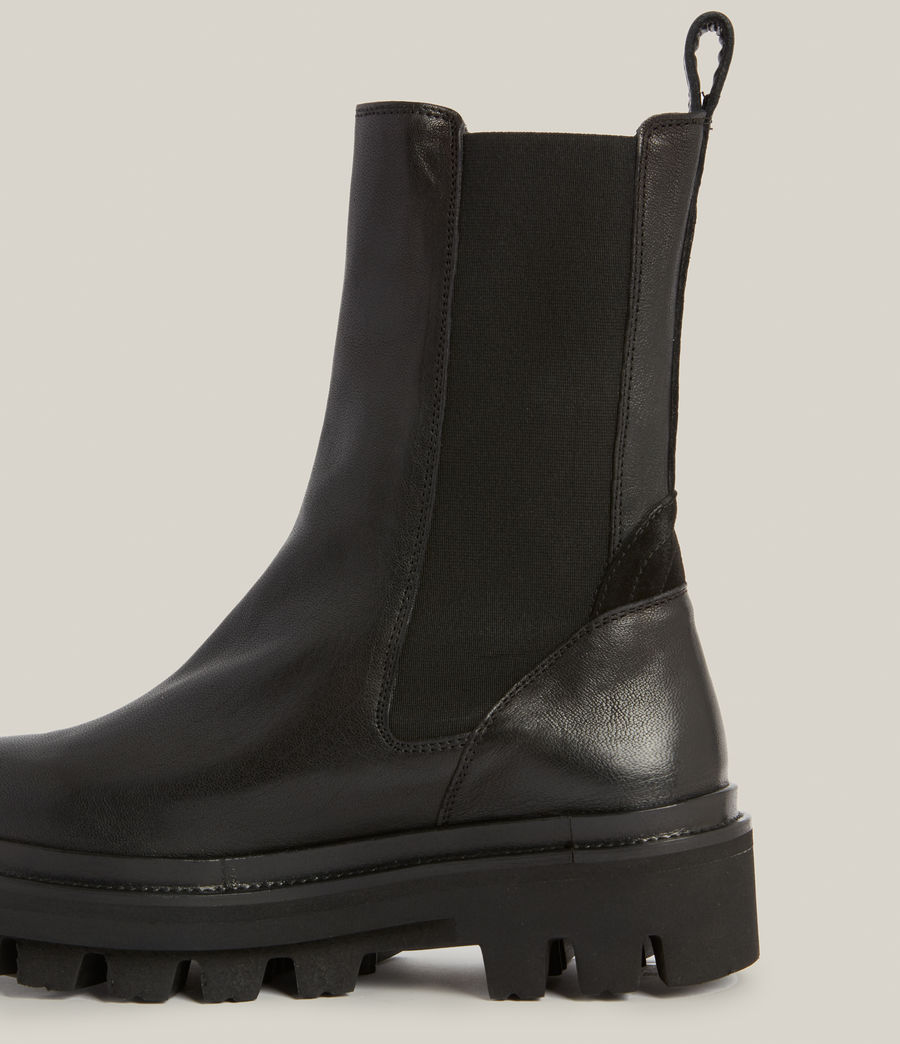 Womens Billie Leather Boots (black) - Image 2