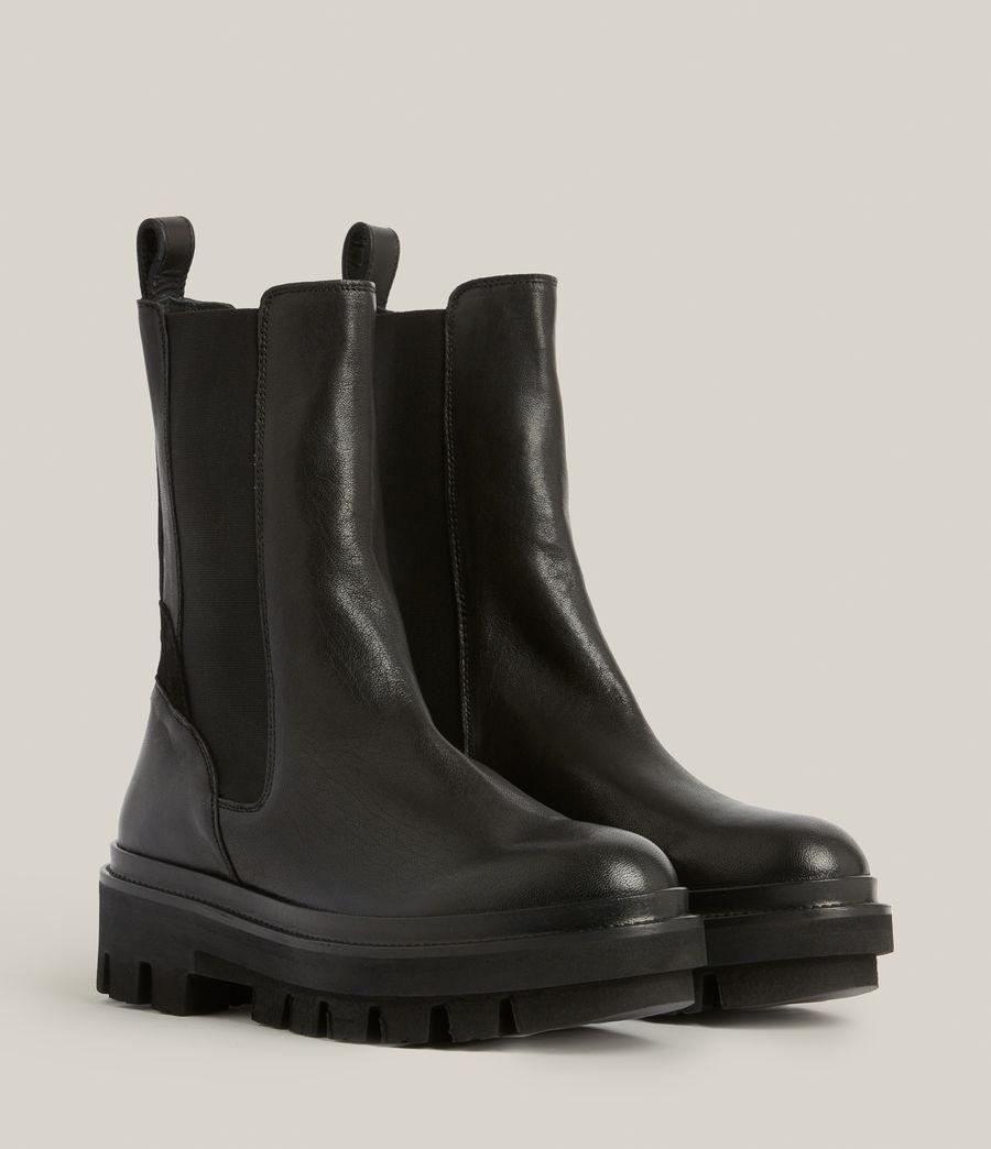 Women's Billie Leather Boots (black) - Image 3