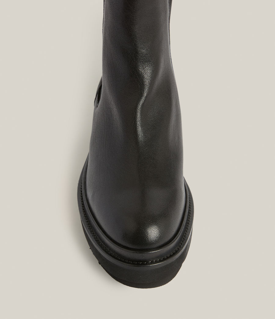 Womens Billie Leather Boots (black) - Image 4