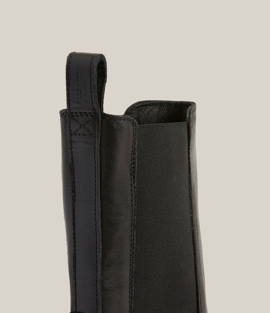 Women's Billie Leather Boots (black) - Image 5