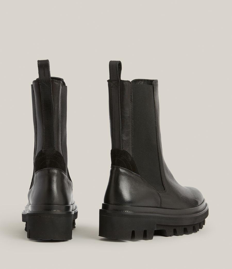 Women's Billie Leather Boots (black) - Image 6