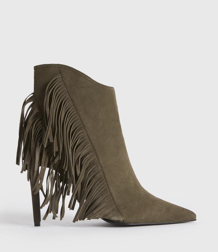 Women's Izzy Suede Boots (khaki) - Image 1