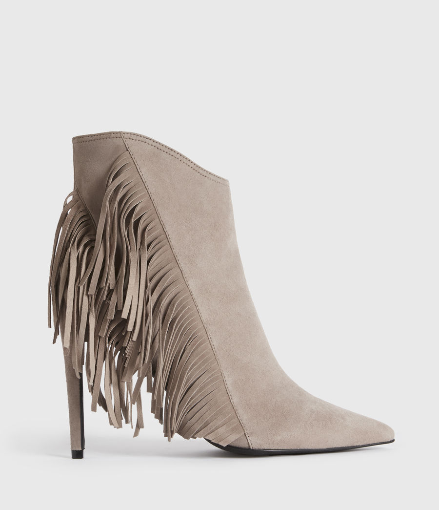 Women's Izzy Suede Boots (taupe) - Image 1