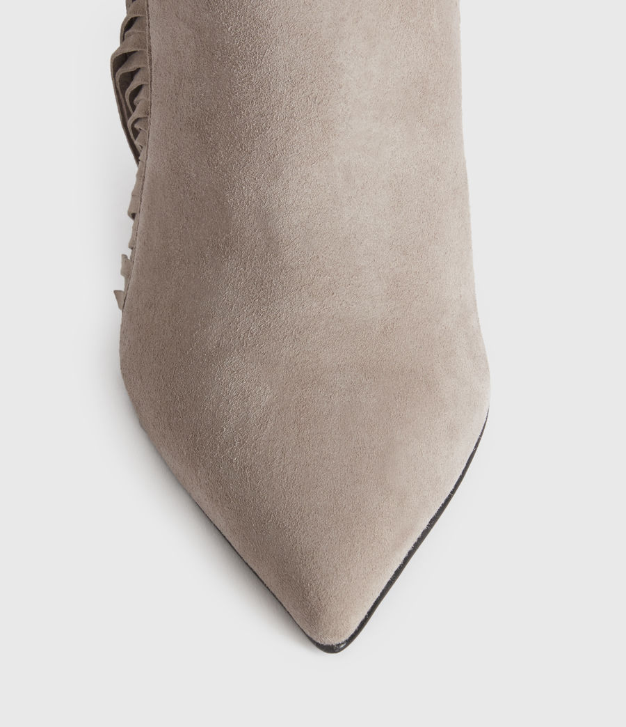 Women's Izzy Suede Boots (taupe) - Image 2