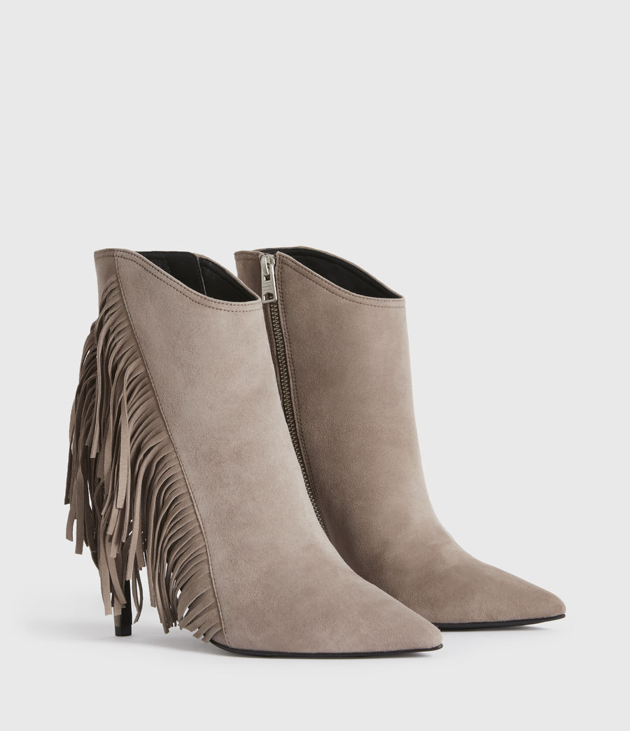 Women's Izzy Suede Boots (taupe) - Image 3