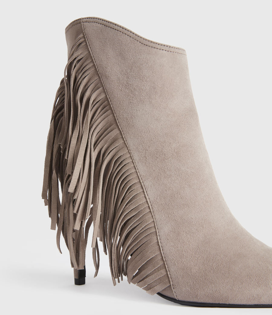 Women's Izzy Suede Boots (taupe) - Image 4