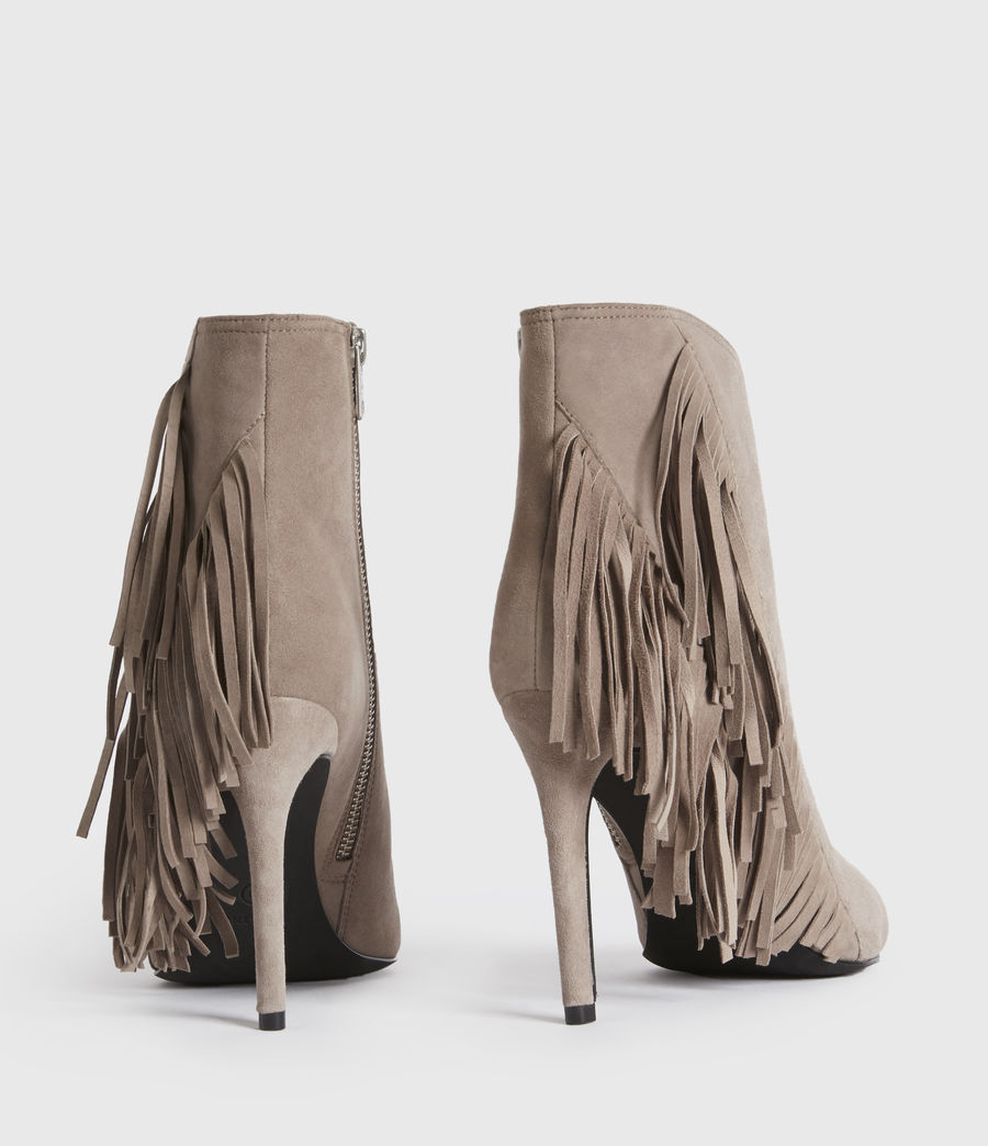 Women's Izzy Suede Boots (taupe) - Image 6