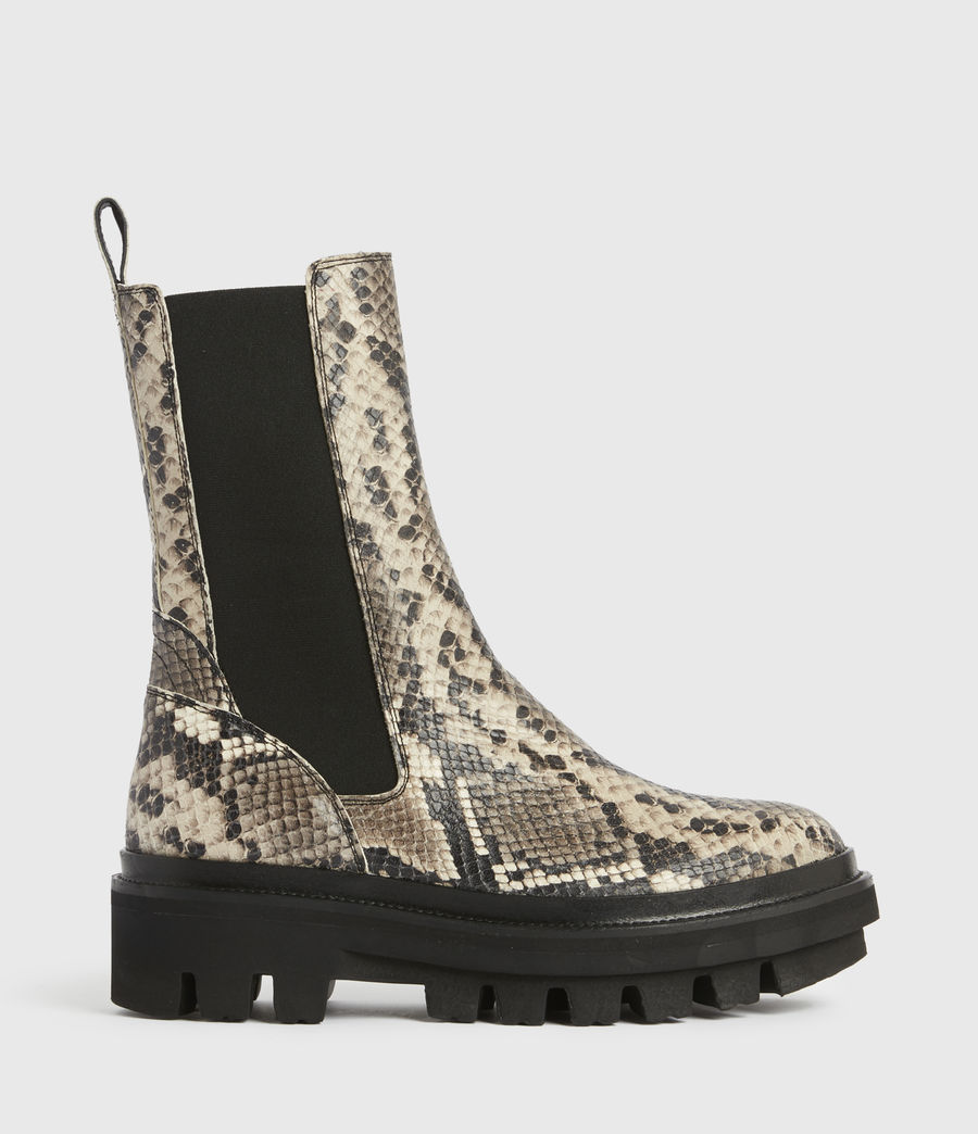 Women's Billie Leather Boots (snake_grey) - Image 1