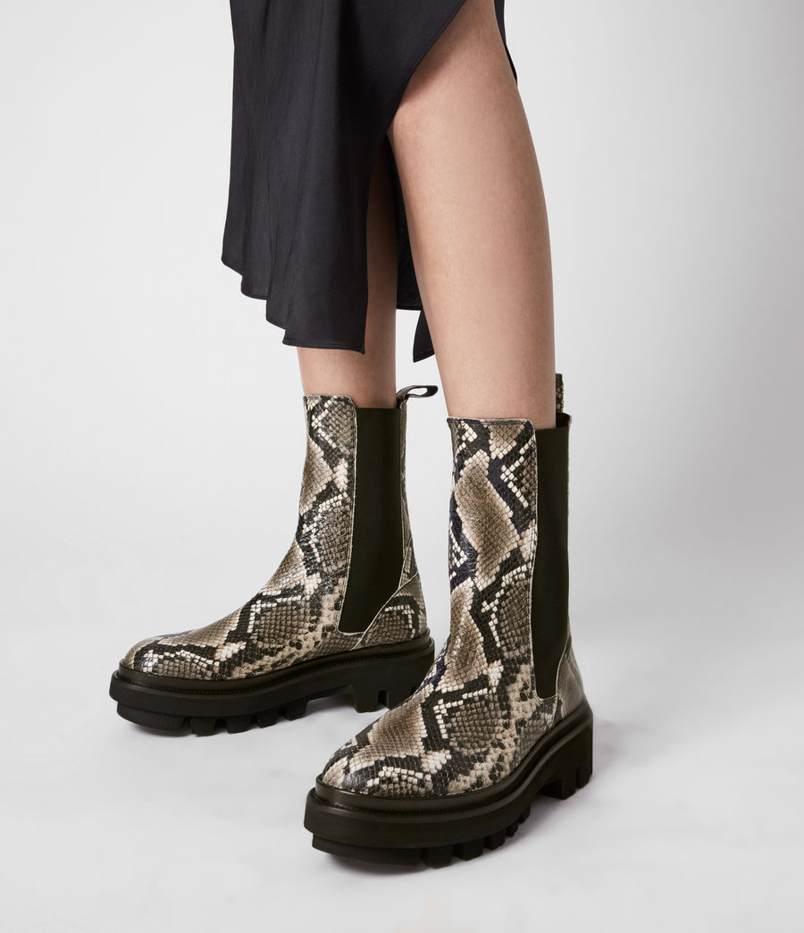 Women's Billie Leather Boots (snake_grey) - Image 2