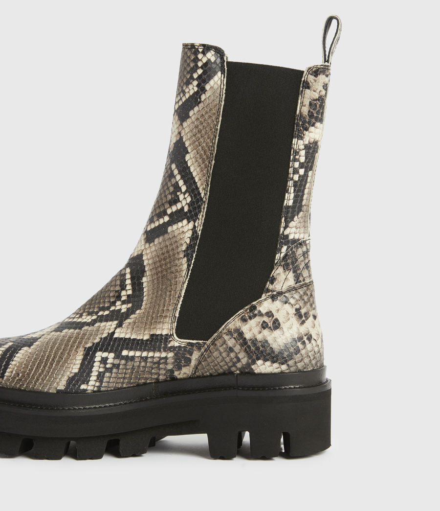 Women's Billie Leather Boots (snake_grey) - Image 3