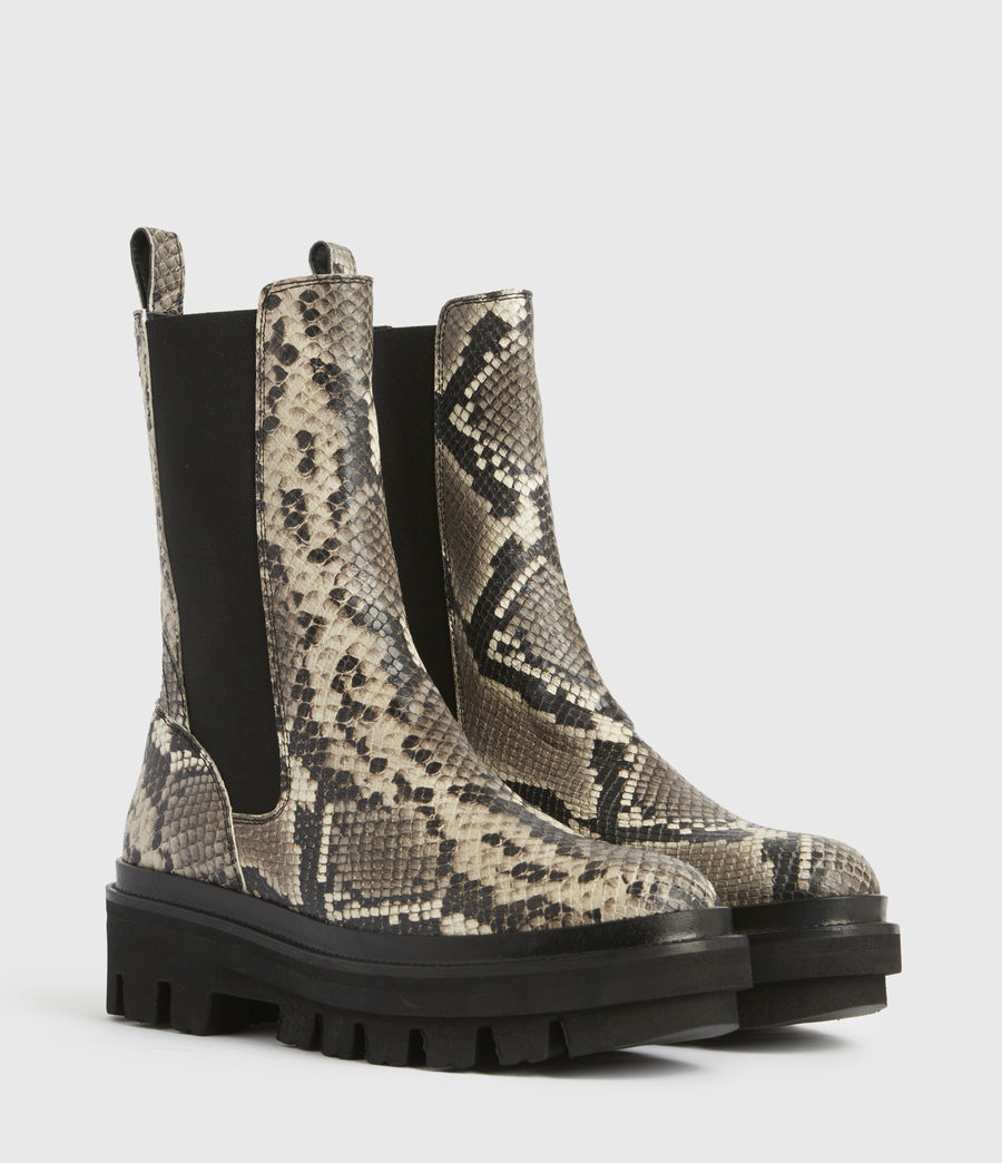 Women's Billie Leather Boots (snake_grey) - Image 5