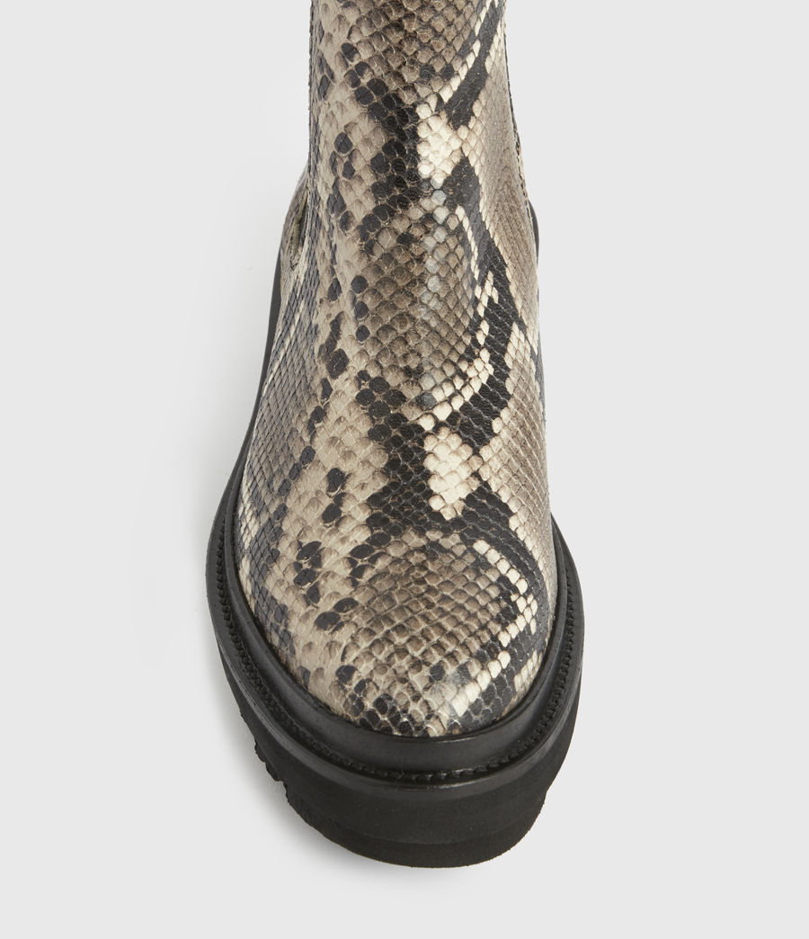 Women's Billie Leather Boots (snake_grey) - Image 6