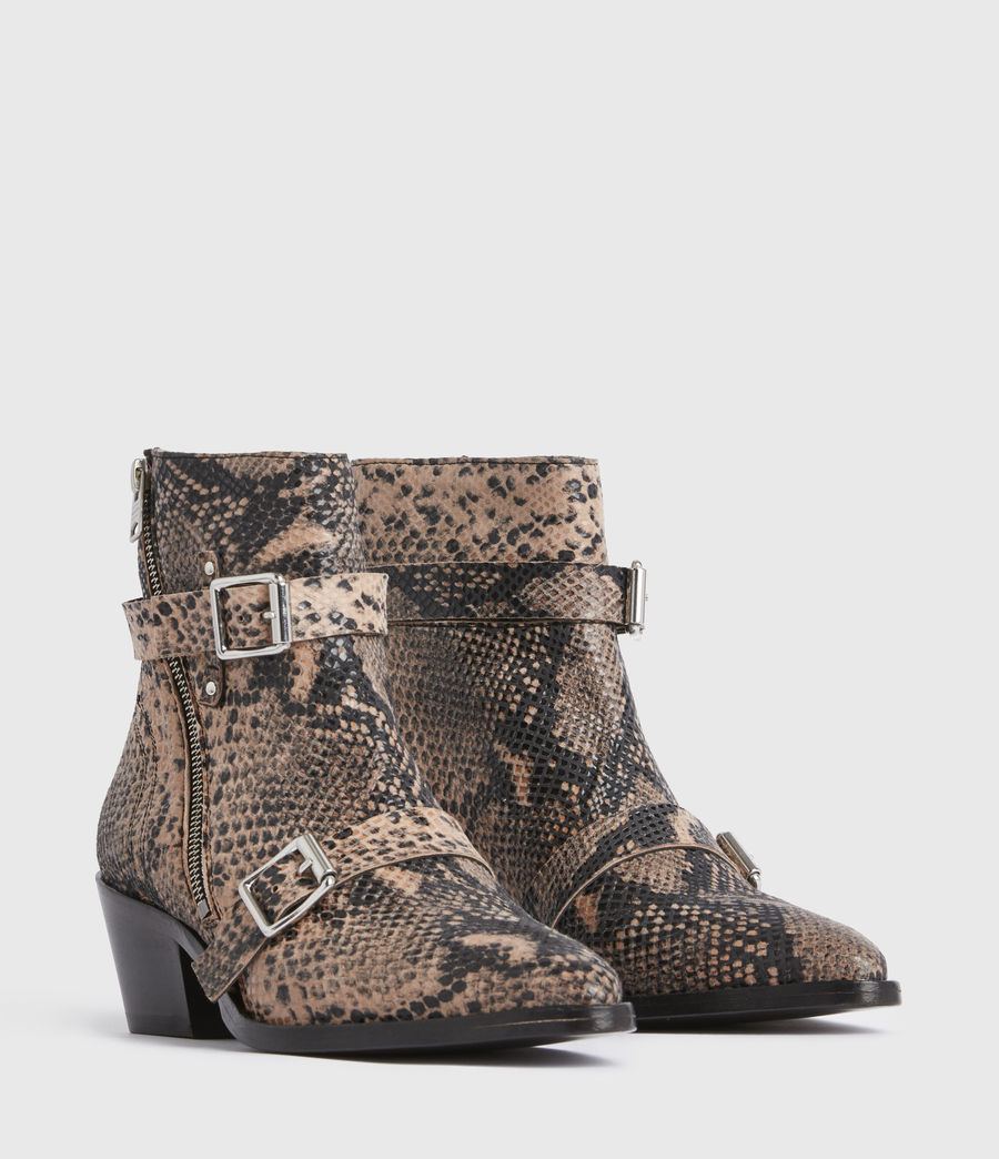 Womens Lior Leather Boots (taupe) - Image 3