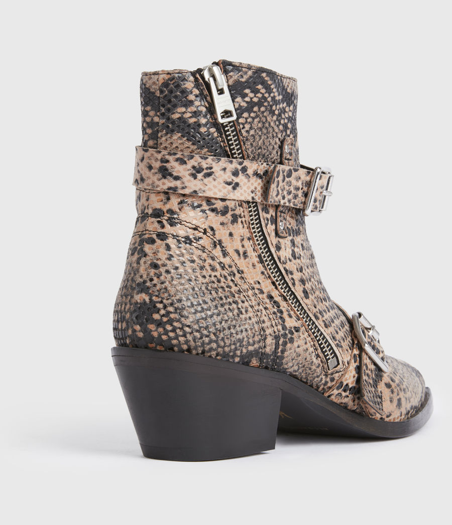 Womens Lior Leather Boots (taupe) - Image 5