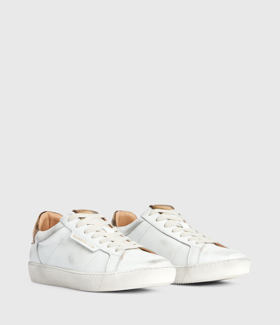Damen Sheer Low Top Turnschuhe (white_gold) - Image 3