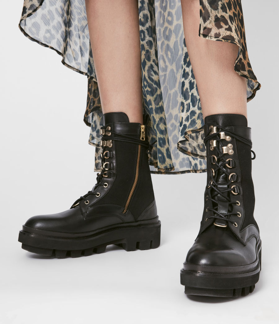 Women's Beth Leather Boots (black) - Image 2