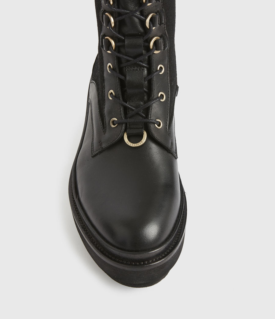 Women's Beth Leather Boots (black) - Image 3