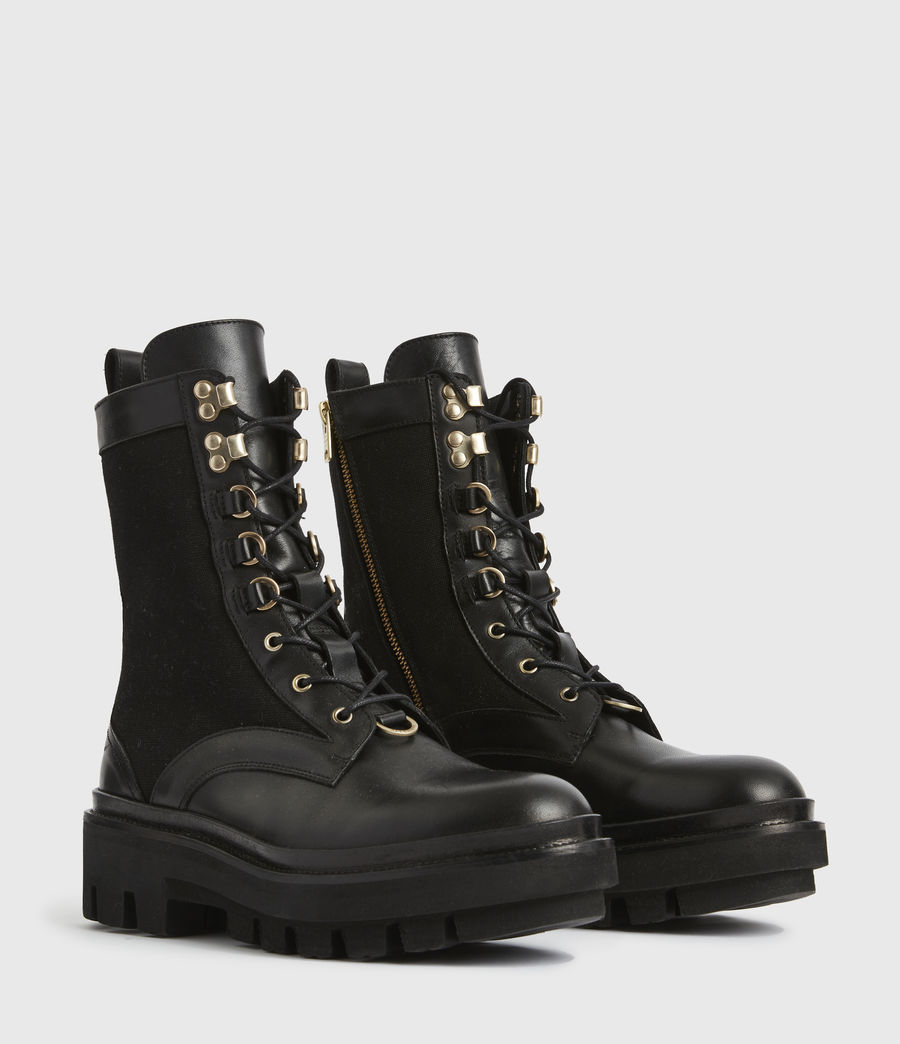 Women's Beth Leather Boots (black) - Image 4