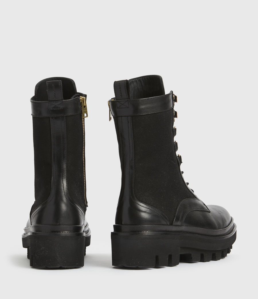 Women's Beth Leather Boots (black) - Image 6