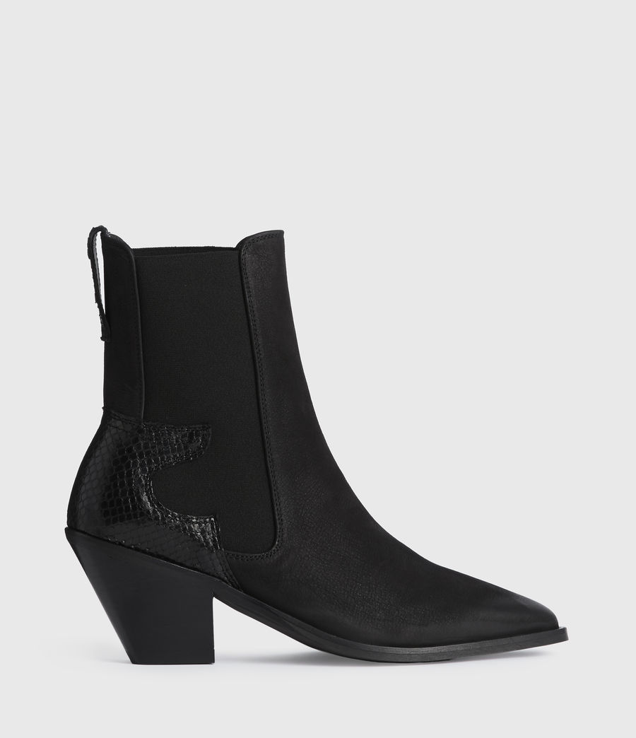 Mujer Sara Suede Boots (black) - Image 1
