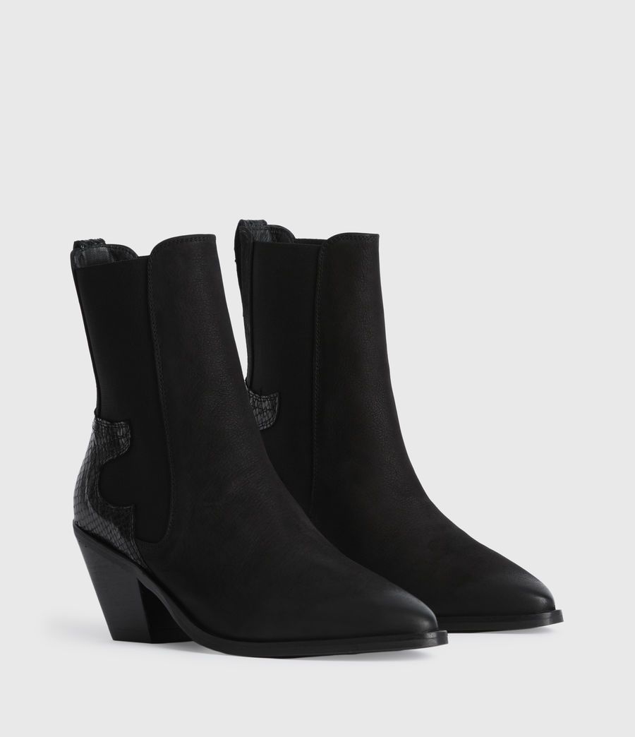 Mujer Sara Suede Boots (black) - Image 3