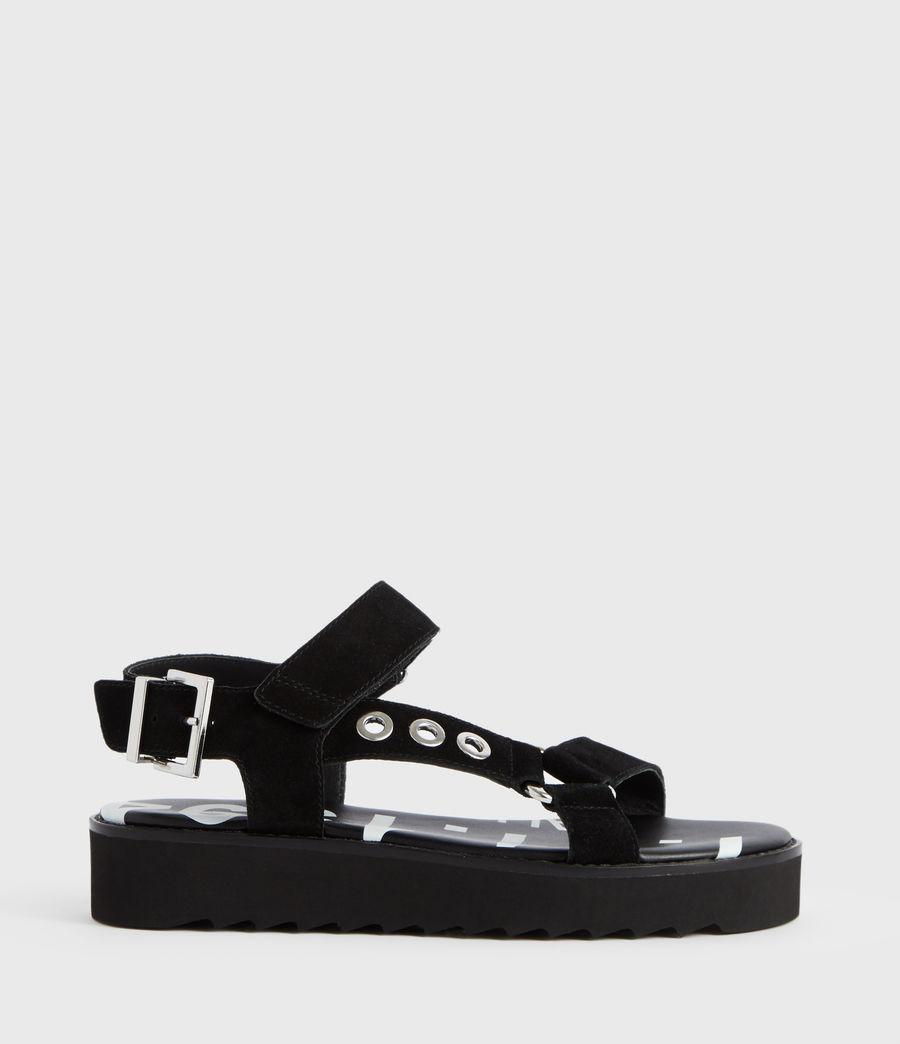 Women's Rhianne Leather Sandals (black) - Image 1