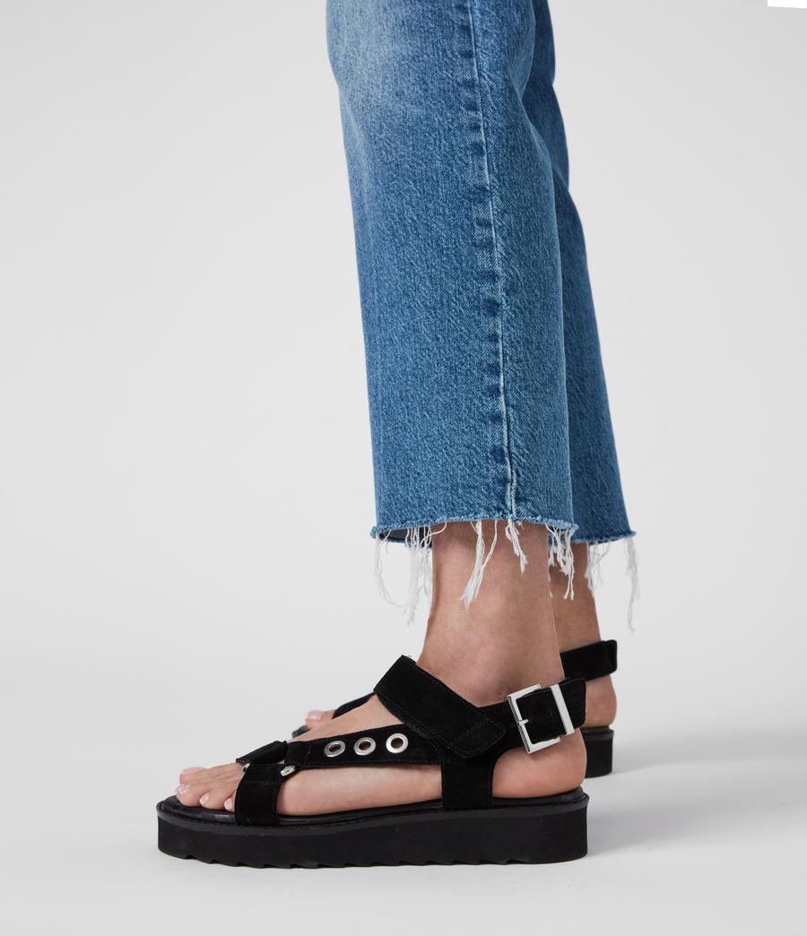 Women's Rhianne Leather Sandals (black) - Image 2