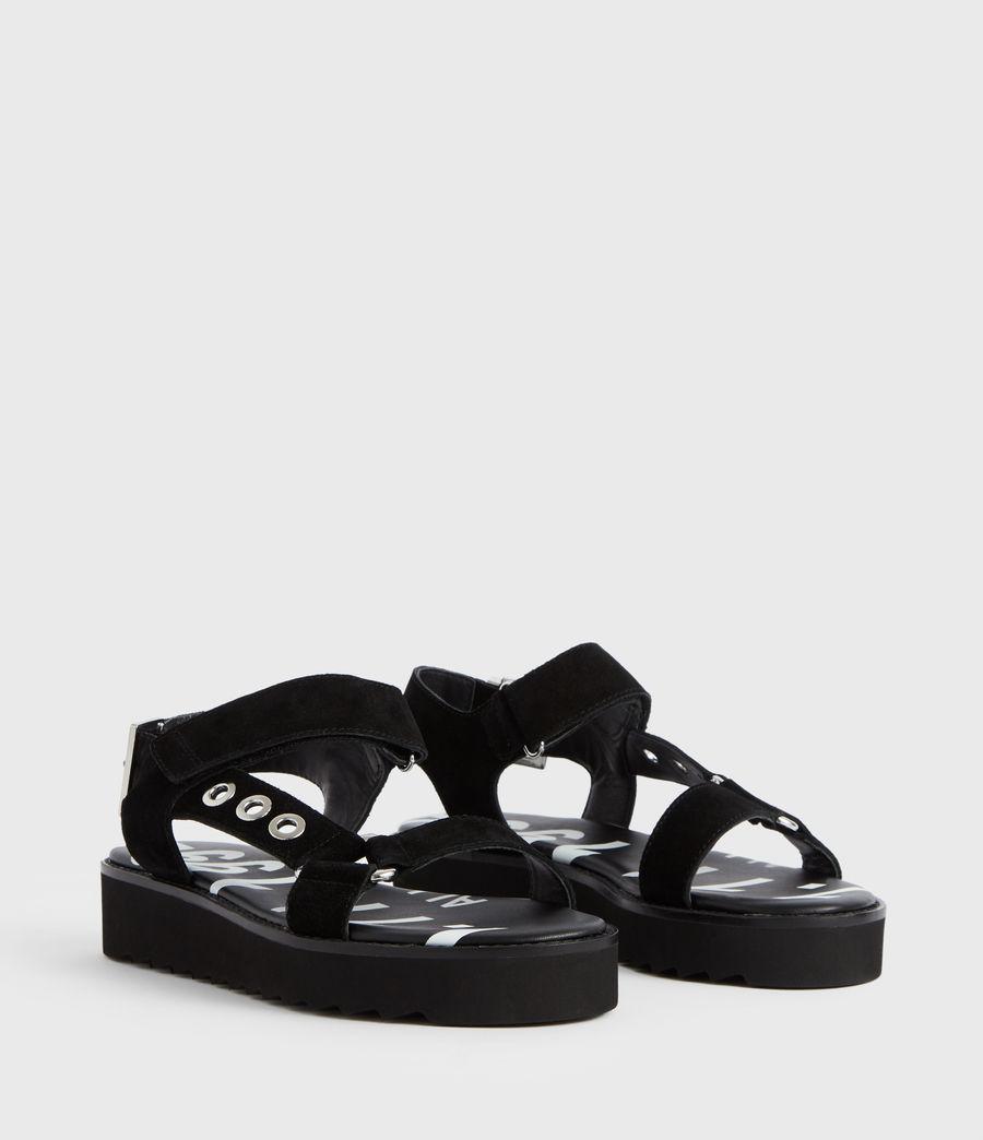 Women's Rhianne Leather Sandals (black) - Image 4