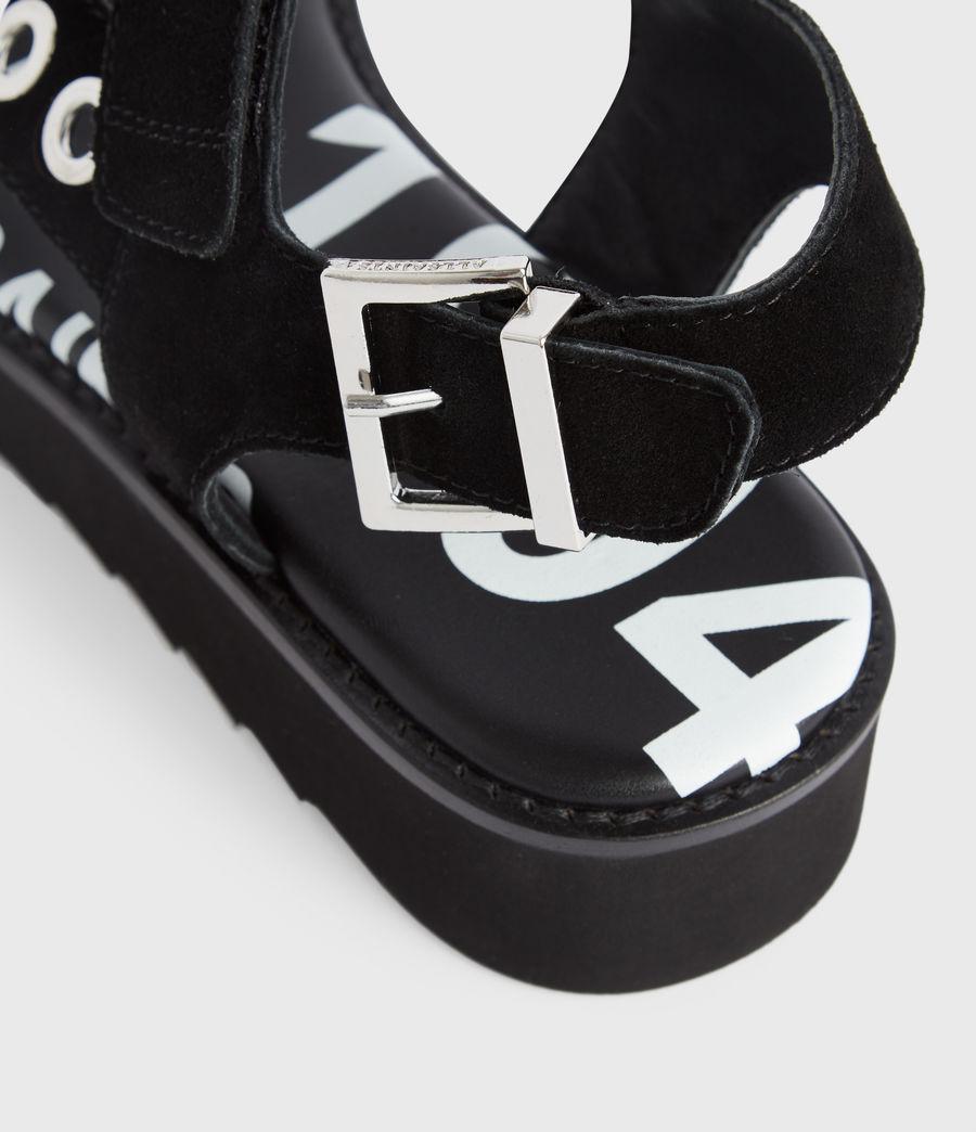 Women's Rhianne Leather Sandals (black) - Image 5