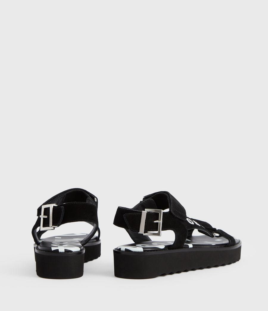 Women's Rhianne Leather Sandals (black) - Image 6