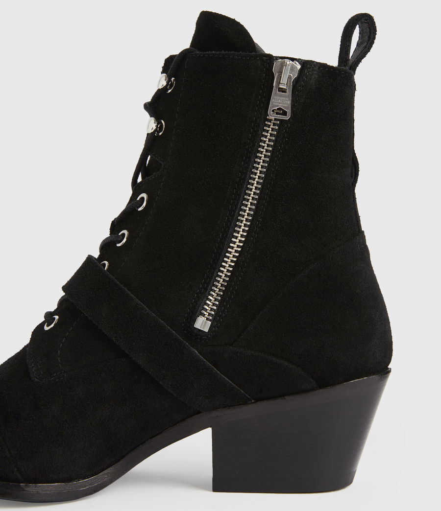 Women's Katy Suede Boots (black) - Image 2