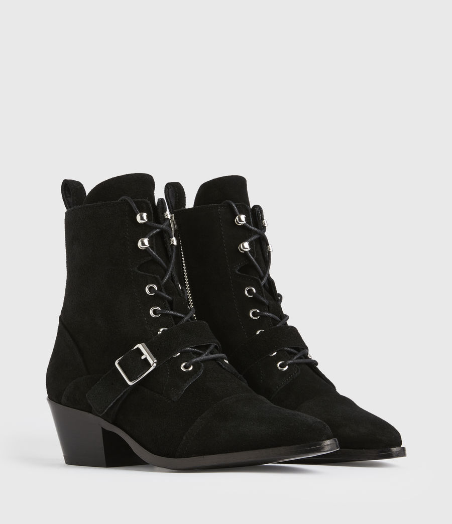 Women's Katy Suede Boots (black) - Image 3