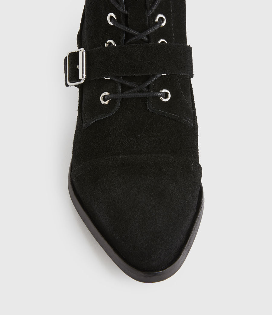 Women's Katy Suede Boots (black) - Image 4