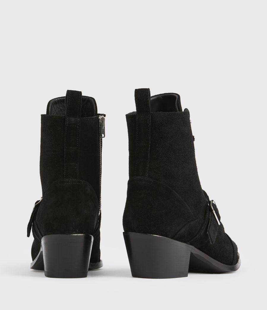 Women's Katy Suede Boots (black) - Image 5