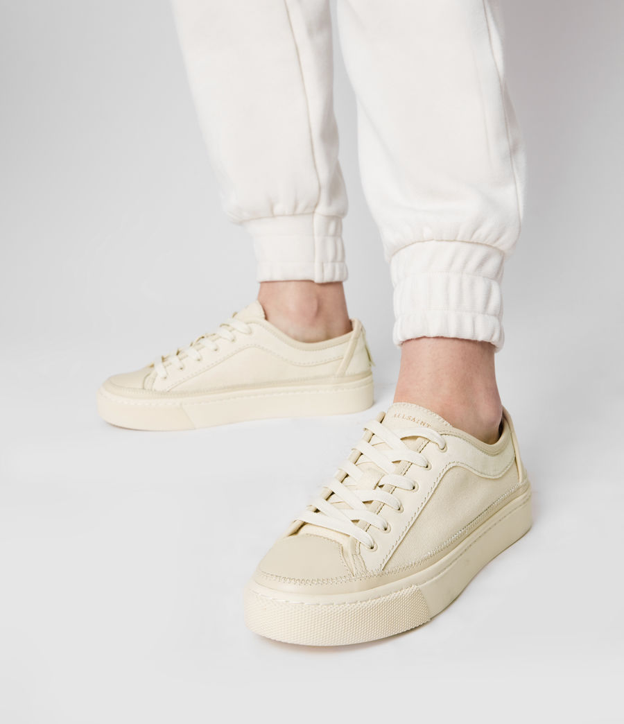 Women's Milla Leather Trainers (off_white) - Image 2