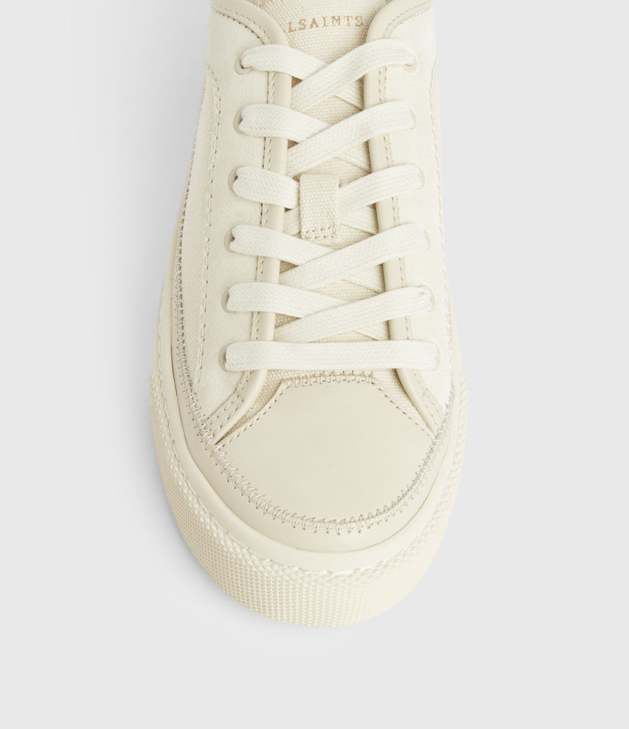 Women's Milla Leather Trainers (off_white) - Image 3
