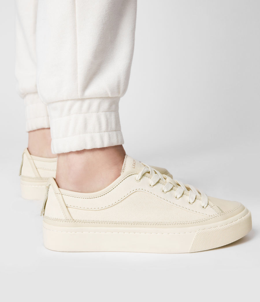 Women's Milla Leather Trainers (off_white) - Image 4