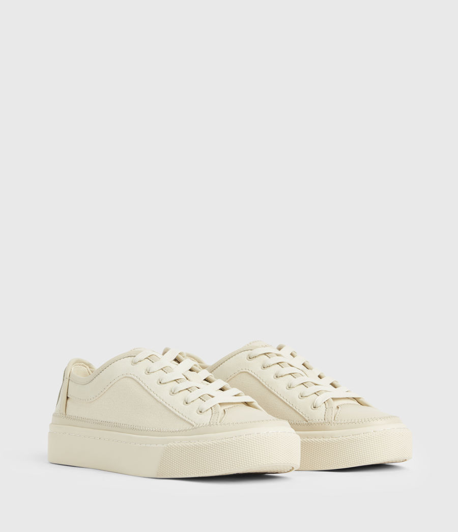 Women's Milla Leather Trainers (off_white) - Image 5