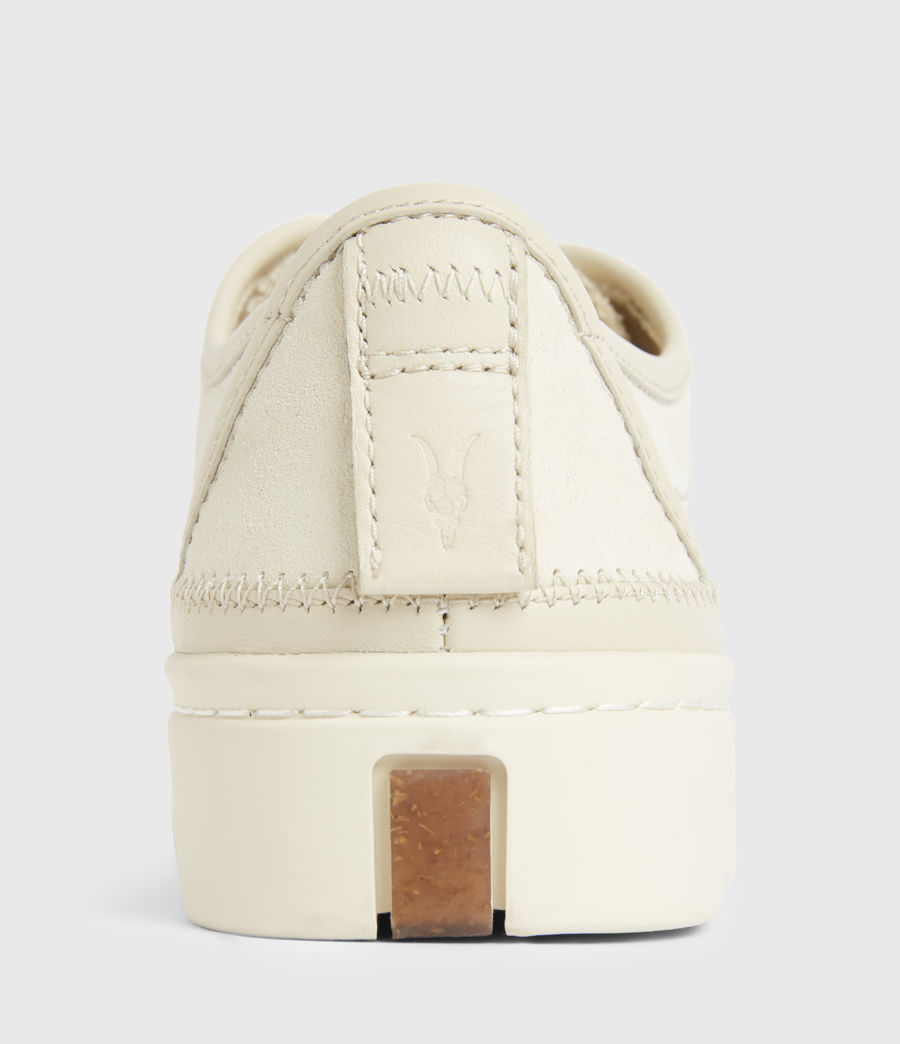 Women's Milla Leather Trainers (off_white) - Image 6