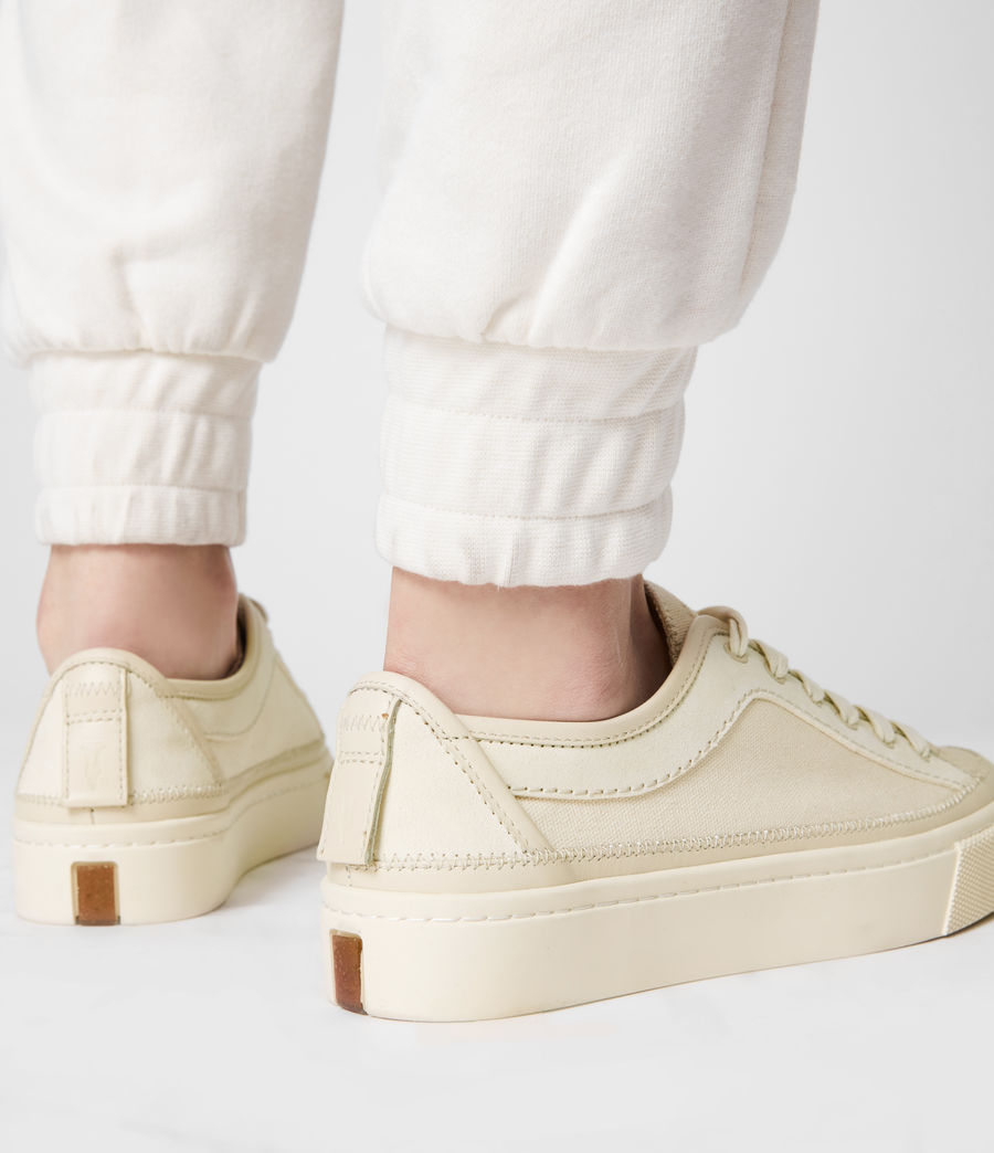 Women's Milla Leather Trainers (off_white) - Image 8