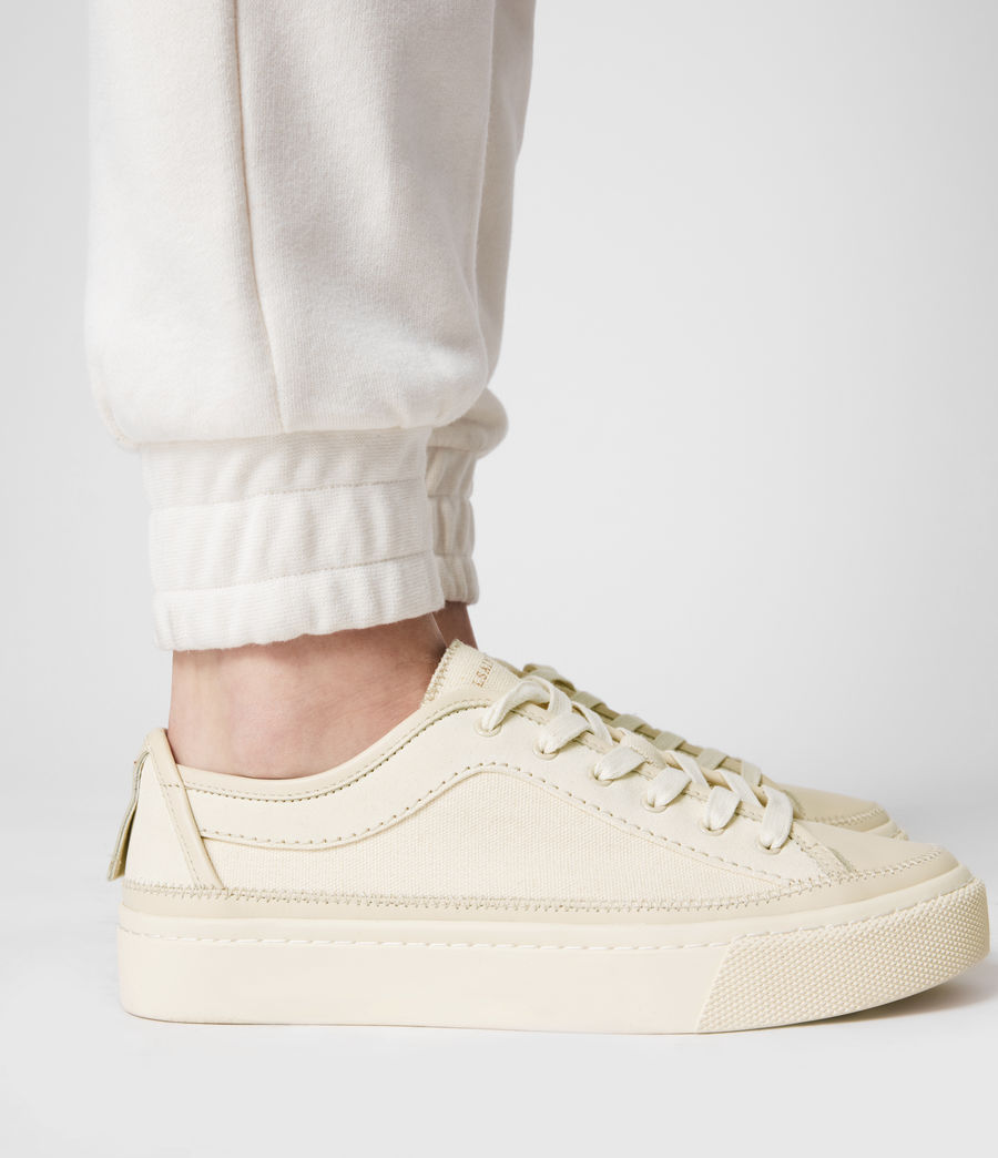 Women's Milla Leather Trainers (off_white) - Image 9