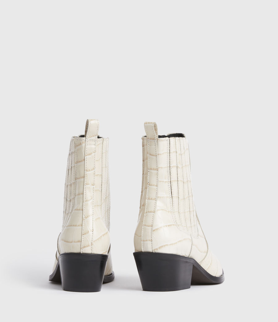 Women's Miriam Leather Croc Boots (off_white) - Image 5
