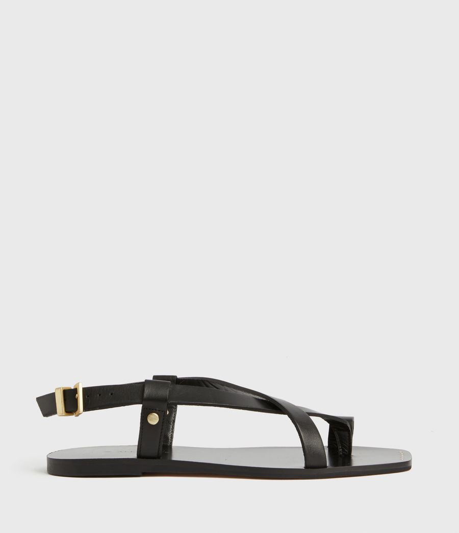 Women's Eden Leather Sandals (black) - Image 1