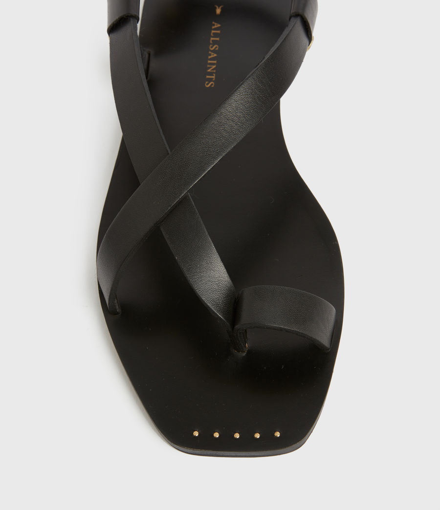 Women's Eden Leather Sandals (black) - Image 2