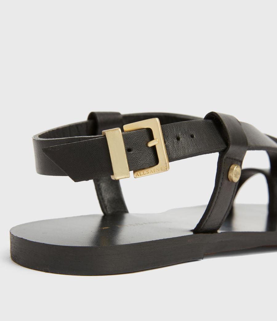 Women's Eden Leather Sandals (black) - Image 4