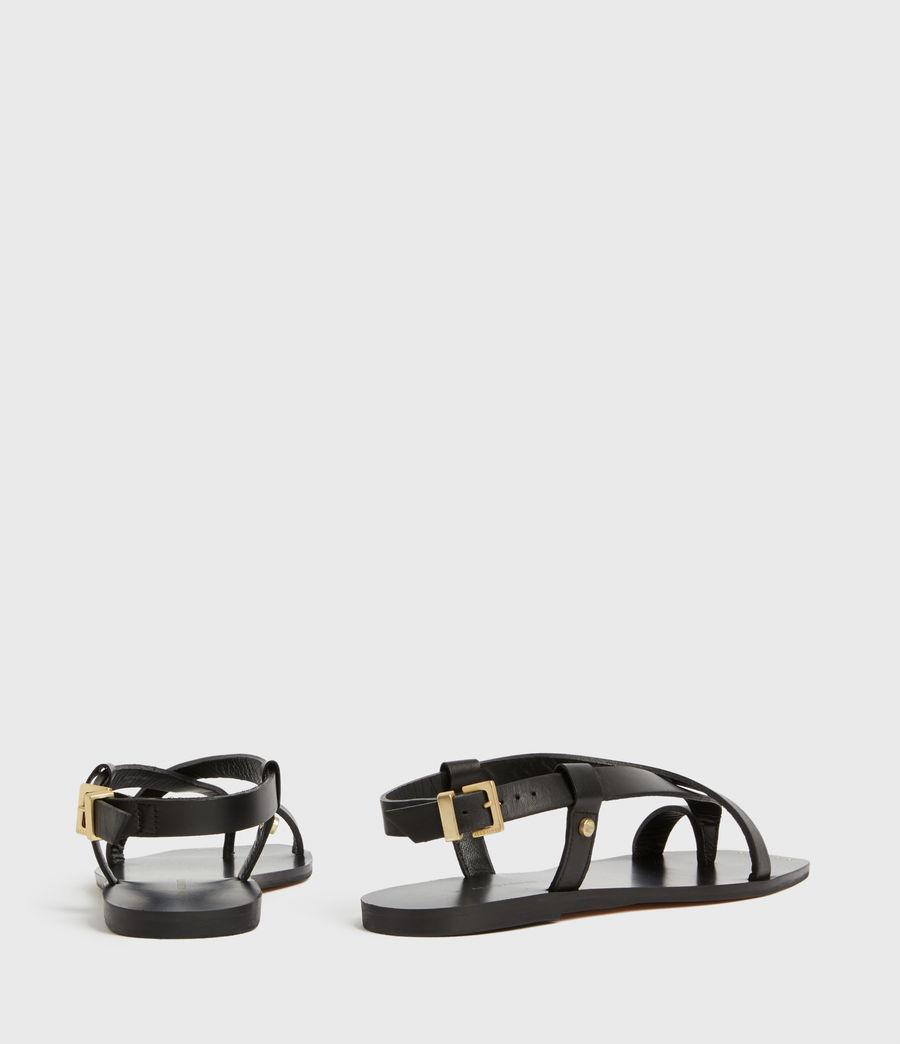 Women's Eden Leather Sandals (black) - Image 5