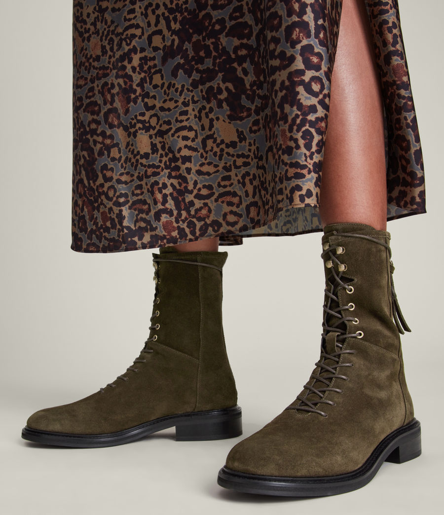 Women's Misty Suede Boots (khaki) - Image 2