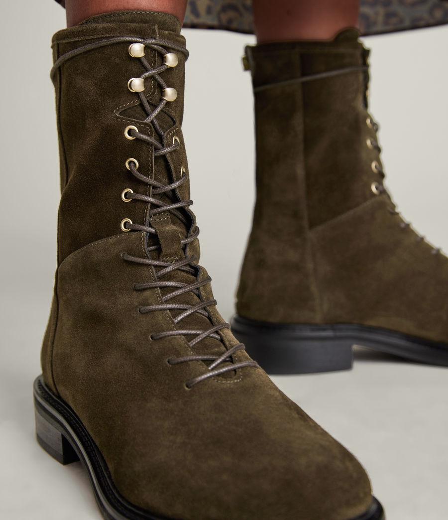 Women's Misty Suede Boots (khaki) - Image 4