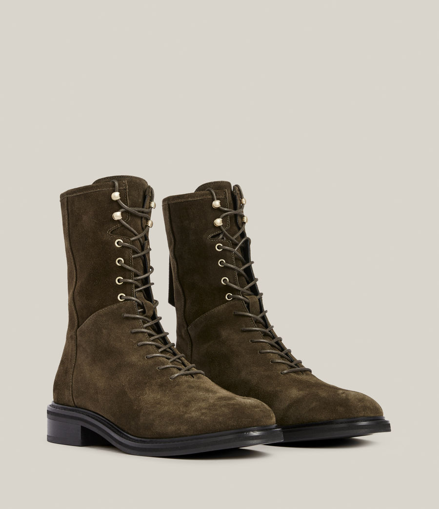 Women's Misty Suede Boots (khaki) - Image 5